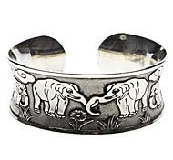 Elephant Statue Tibetan Silver Bracelet