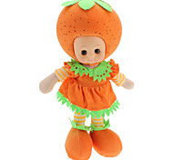 Singing Squeeze Blinking Fruit Doll Watermelon, Banana, Orange, Strawberry (Cell Batteries, Assorted Color)