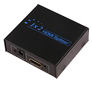 1080P 2-Port V1.3 HDMI Splitter with AC Adapter (1-In, 2-Out)