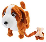 Singing and Dancing Toy Carrying Bone Cute Plush Puppy (3xAA)