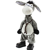 Singing and Dancing Toy Crazy Shaking Head Plush Donkey (3xAA)