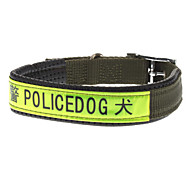 Dog Collar Green Genuine Leather