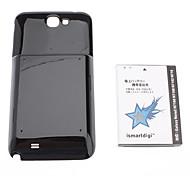 3.7V, 6000 mAh ismartdigi-N7100WH & Case Negro para Samsung Galaxy Note N7108 N7102 N719 2