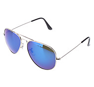 OREKA Laser Blue Resin Polarized Lens Silver Frame Driving Sunglasses