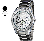 Men's Steel Analog Quartz Wrist Watch (Silver)