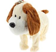 Singing and Dancing Toy Lovely Walking Plush Puppy (3xAA, White)