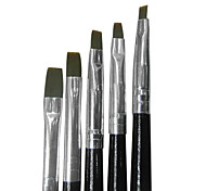 5pcs Nail Art Brushes With Black Handle