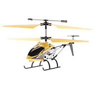 Palm Size 3.5-Channel Gyro Mini Remote Control Helicopter (Yellow, Model:33011-3)