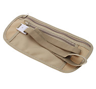 Nylon Closed-Fit Anti-Theft Waist Bag for Travel