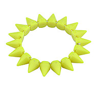 European Style  Fashion Fluorescence Color Resin  Rivet Bracelet
