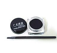 Black Waterproof Eye Liner Eyeliner Gel Makeup Brush
