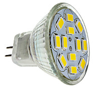 6W GU4(MR11) LED Spotlight MR11 12 SMD 5730 570 lm Warm White DC 12 V