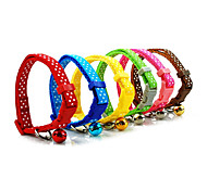 Dog Collars Red / Green / Blue / Brown / Pink / Yellow Textile