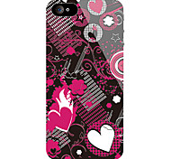 Heart-Shape Pattern Front and Back Sticker for iPhone 5