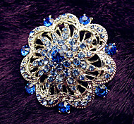 Women's Royal Blue Flowwer Brooch