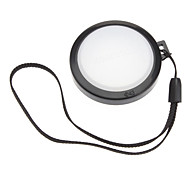 MENNON 43mm Camera White Balance Lens Cap Cover with Hand Strap (Black & White)