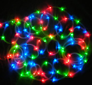 Solar 12M 100-LED Colorful Light Waterproof LED Strip Tube Rope Lamp