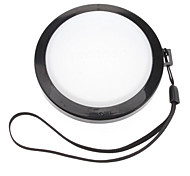 MENNON 77mm Camera White Balance Lens Cap Cover with Hand Strap (Black & White)
