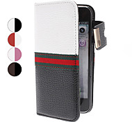 Magnet Pocket Style PU Leather Protective Case with Card Slot for iPhone 5 (Assorted Colors)