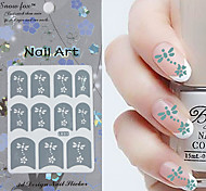 3PCS Mixed-style Paper Nail Art Image Stamp Stickers LK Series No.1