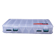 Lados dobles transparentes señuelo Tackle Box Box (27 * 17 * 4.5cm)