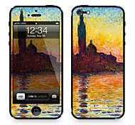 """Codice Da ™ Pelle per iPhone 4/4S: """"San Giorgio Maggiore al crepuscolo"""" di Claude Monet (Masterpieces Series)"""