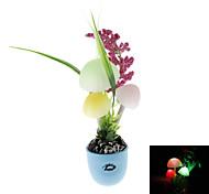 Mushroom & Plants Style Color Changing LED Night Light (Random Style, 220V)