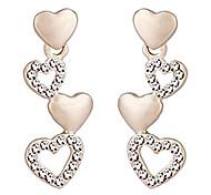 Импорт Crystal Heart Pattern Серьги (золото)