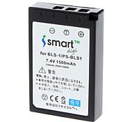 1500mah fotocamera BLS-1 batteria per Olympus E-400, EVOLT E-410, E-420, E-450, E-620, E-P1, E-P2, penna ep, E-PL1