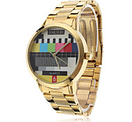 Unisex Alloy Quartz Analog Wrist Watch (Gold)