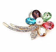 Хрустальный цветок алмаз шипованных блестящие броши