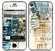 Retro Design Front and Back Screen Protector Film for iPhone 4/4S