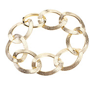 Golden Rings Alloy Bracelet