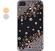 Vintage Zircon Acrylic Flower Pattern Hard Case for iPhone 4/4S(Assorted Colors)