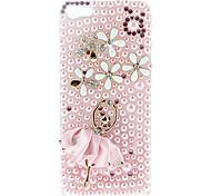 Diamant Look Pink Dancer Pattern Hard Case mit Blitzlicht für iPhone 5