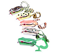 Snakehead Frog Water Surface 50MM/10G Plastic Fishing Lure with Two Hooks(Random Color) YLR-MF5