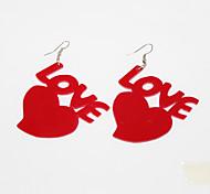 Acrylic Heart Love Pattern Earrings(Assorted Colors)