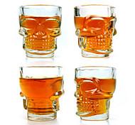 Cool Skull 2.5oz Whiskey Beer Shot Glass (4-Pack)
