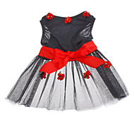Romantic Flower Decorated Evening Dresses for Dogs (XS-XL)