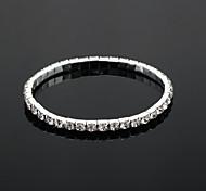 brillante de tenis damas rhinestone boda en aleación de plata