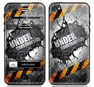 Under Construction Pattern Front and Back Screen Protector Film for iPhone 4/4S