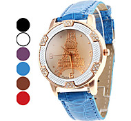 Women's Eiffel Tower Style PU Analog Quartz Wrist Watch (Assorted Colors)