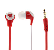 Flat Cable Style In-Ear Earphones with Mic and Calls Control for Samsung Galaxy S3 I9300 and Others (Assorted Colors)