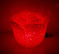 Crystal Rose Shaped Color Changing LED Night Light (USB, Random Color)