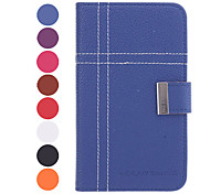 Leechee Pattern Stand Available Leather Samsung Mobile Phone Cases for Galaxy i9080/i9082(8 Colors)