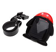 Energia Solar recarregável 4-Modos de Luz Traseira Bicicleta
