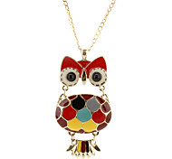 The Length And Width Of Personality Glaze Owl Necklace