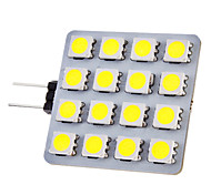 G4 2W 16x5050SMD 150-180LM 6000-6500K Natural White Light LED Spot Bulb (12V)