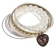 Metal And Pearl Bracelet Multilayer Bracelet