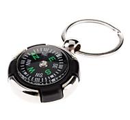 Porte-clés en métal avec pendentif Compass